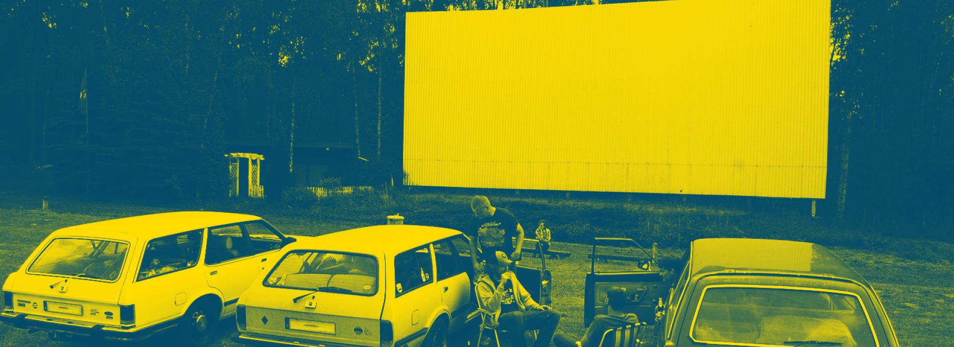 Auto Kino Kollektiv Zempow, Brandenburg, Wittstock Dosse, Leinwand